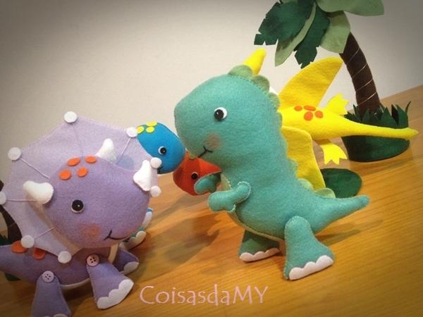 dinossauro em feltro 3